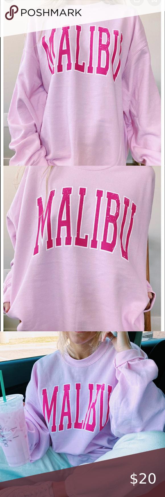 Nwt Women S Malibu Crewneck Sweatshirt Pink Nwt Pink Malibu Crewneck Ordered From Sunnygless Never Worn Crew Neck Sweatshirt Pink Sweatshirt Sweatshirts [ 1740 x 580 Pixel ]