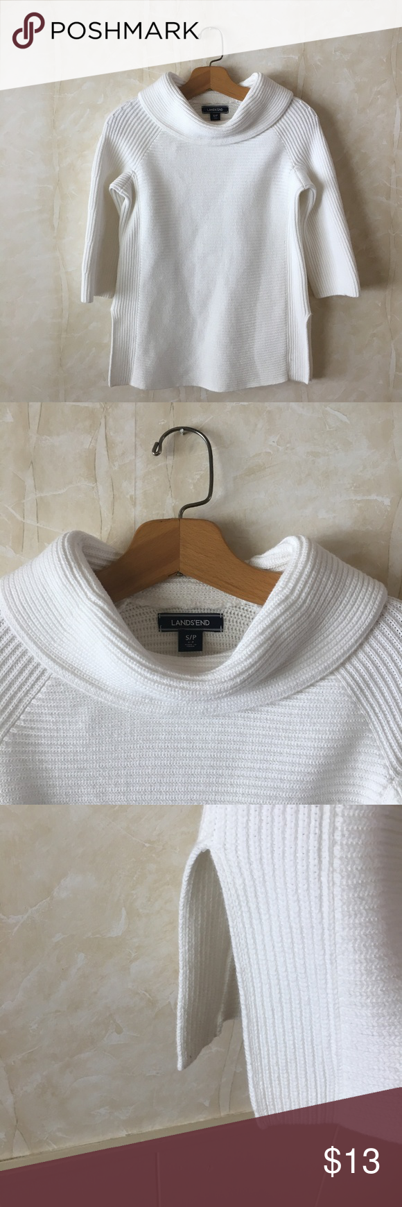 Lands End Sweater Sweaters Cowl Neck Tunic Sweater Sizes [ 1740 x 580 Pixel ]