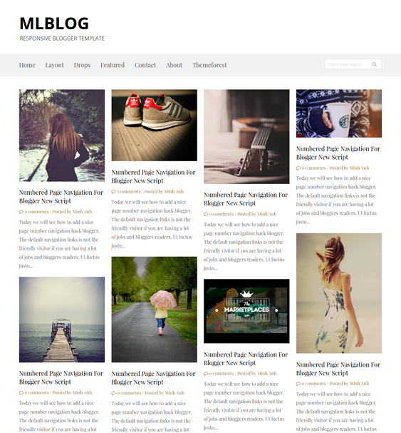This portfolio Blogger template offers a responsive layout