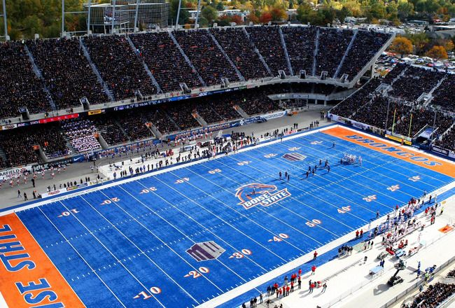 Nothing like the blue Boise state football