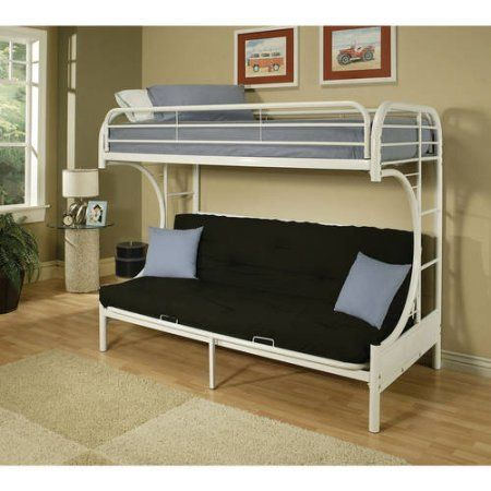 Eclipse Twin Over Full Futon Bunk Bed White