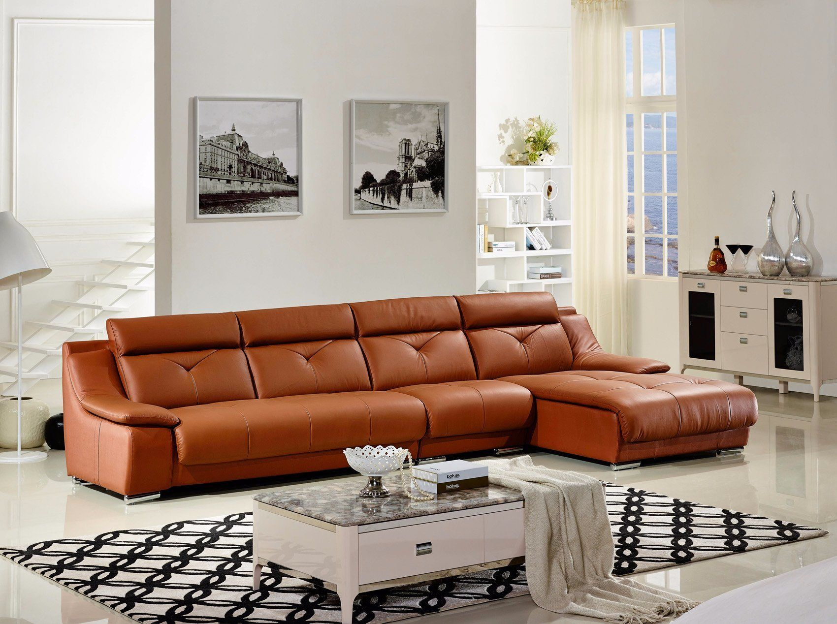 Modern Contemporary Leather Sofa In 2020 Contemporary Leather Sofa Sofa Table Design Couch Design