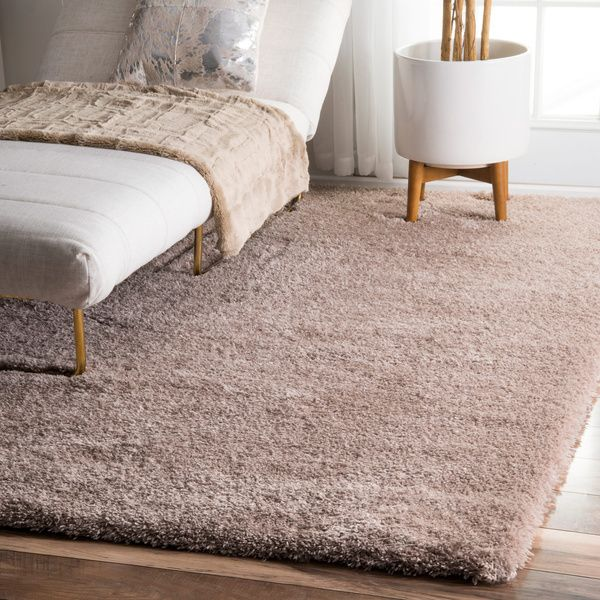 Plush Rug In Light Brown Feels Really Soft Nuloom And Cloudy Solid