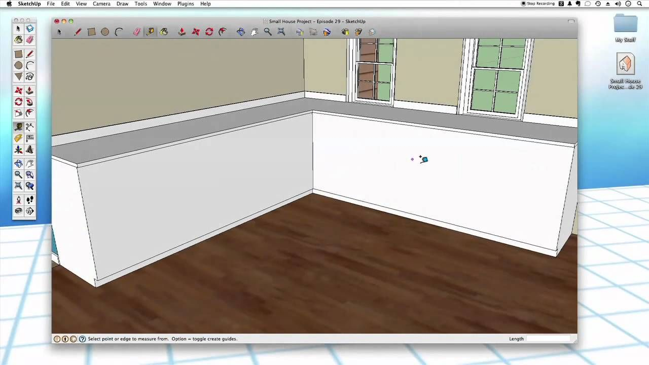 Kleines l küchendesign sketchup  kitchen cabinets  software  pinterest