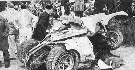Walt Hansgen Gt40 After The Crash That Took His Life In Practice