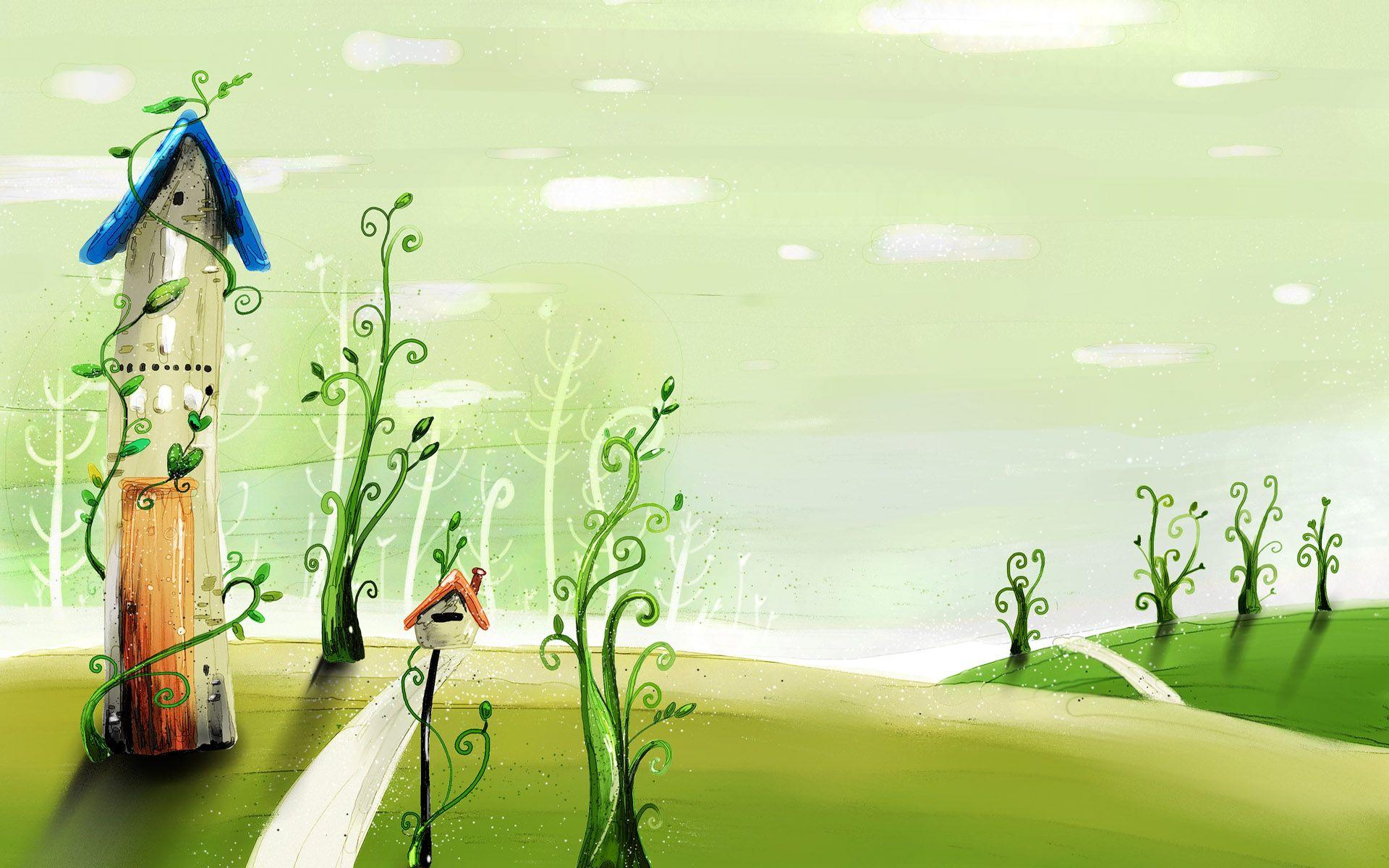 spring fairyland wallpaper for widescreen lcd monitor desktop wallpaper