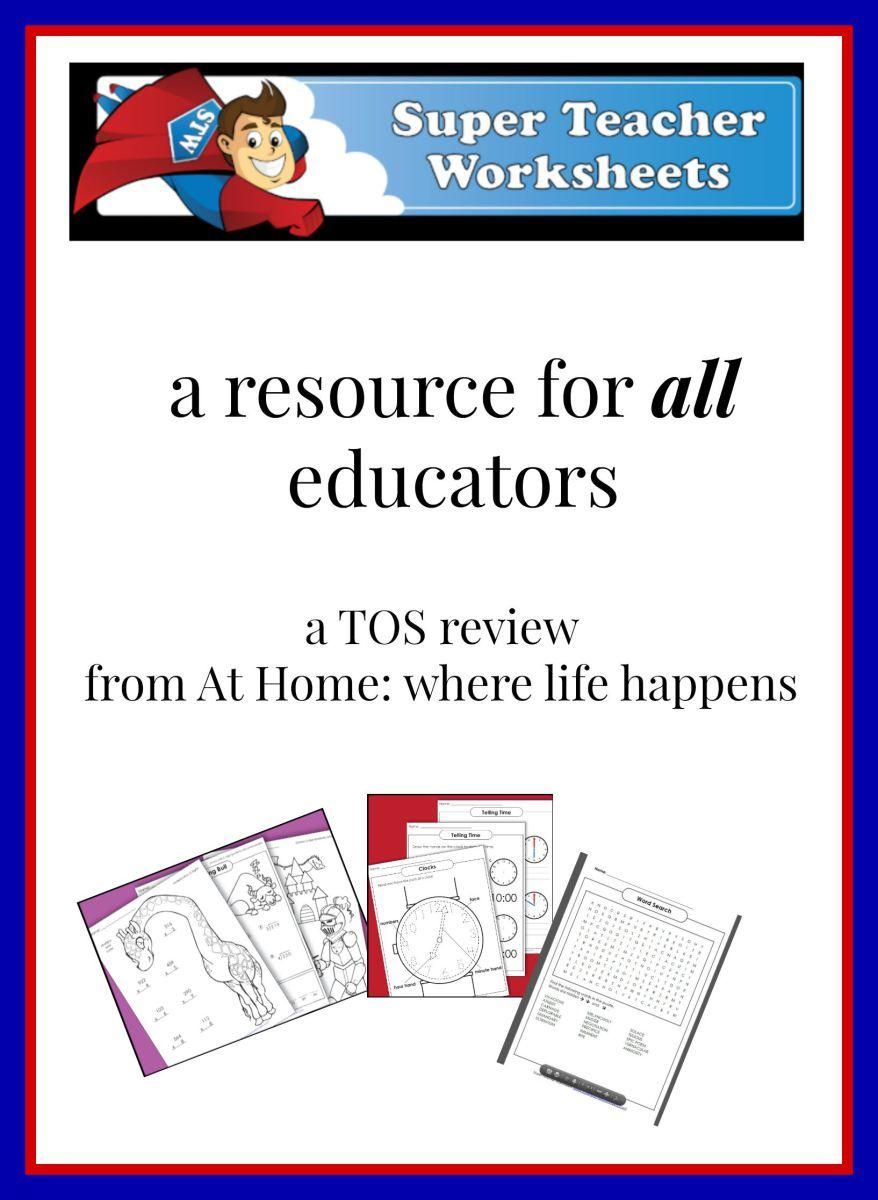Super Teacher Worksheets A Tos Review Super Teacher Worksheets Super Teacher Teacher Worksheets [ 1200 x 878 Pixel ]