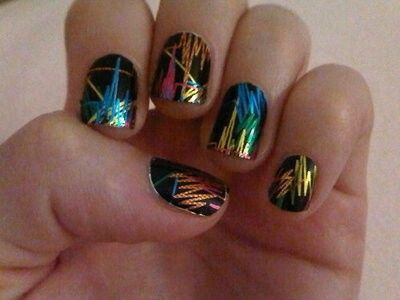 neon colors on black