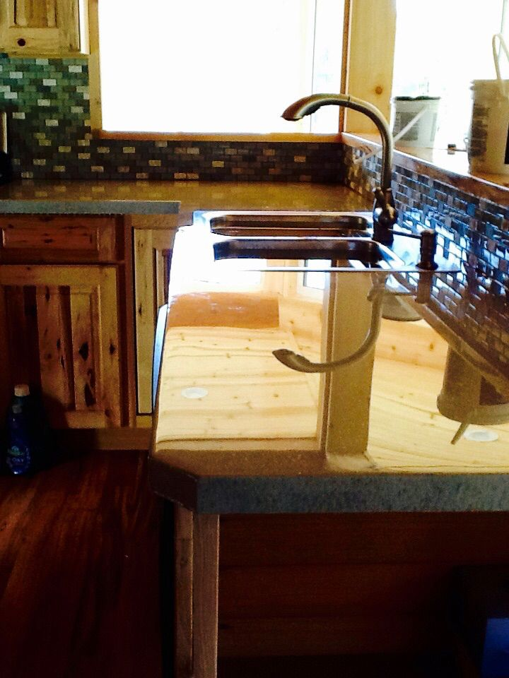 A Countertop Made Out Of Mdf Painted And Finished With Epoxy This Is Dry In The Picture