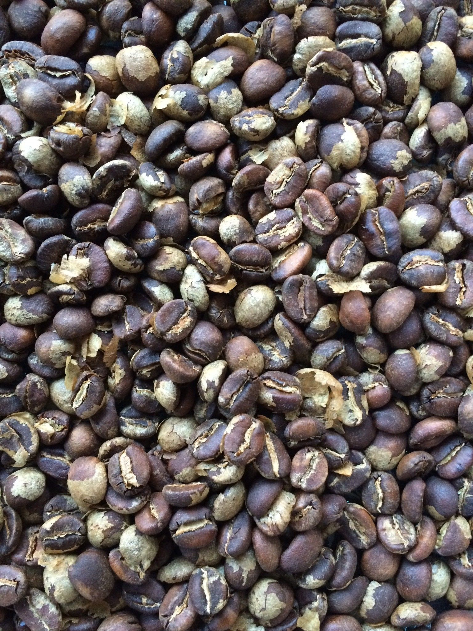 See what coffee beans look like at various stages of