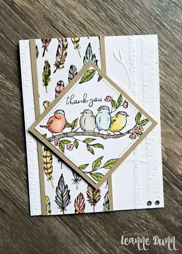 Free As A Bird Stamp Set  Coming Soon! is part of Stamping up cards, Cards handmade, Stamped cards, Bird stamp, Paper cards, Card craft - I've been in a creative slump for a few weeks and too busy to try to get out of it  So, I cleared a couple hours yesterday to sit down and create! Since I attended OnStage (a Stampin' Up! conference) earlier this month I got early access to a few new products that will be coming out in the new catalog next month  One o