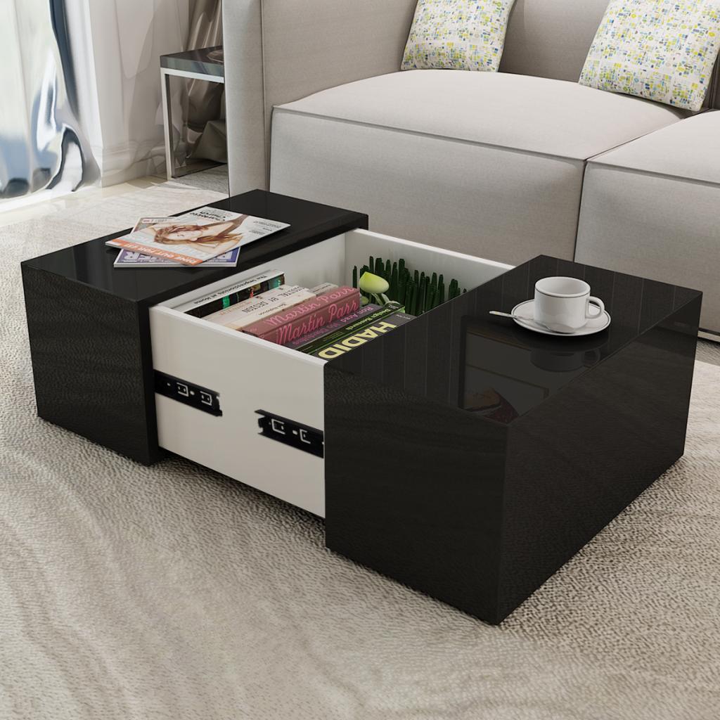 Coffee Table High Gloss Black Coffee Table With Storage Unique Coffee Table Coffee Table [ 1024 x 1024 Pixel ]