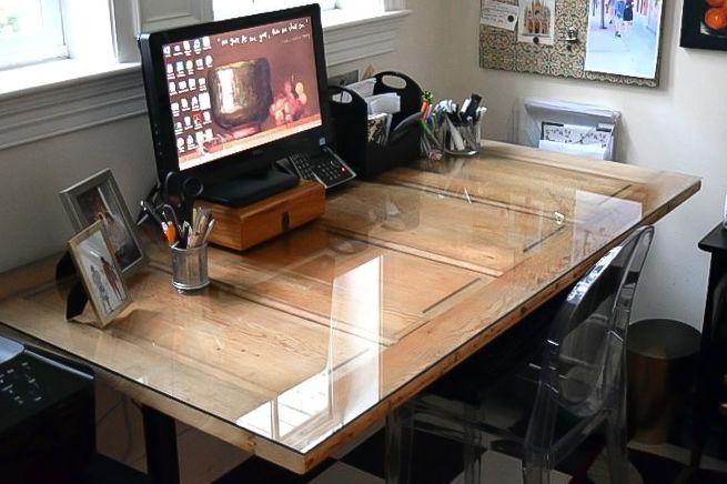 Funky Office Desks Farmhouse Kitchens Repurposed Door Desk