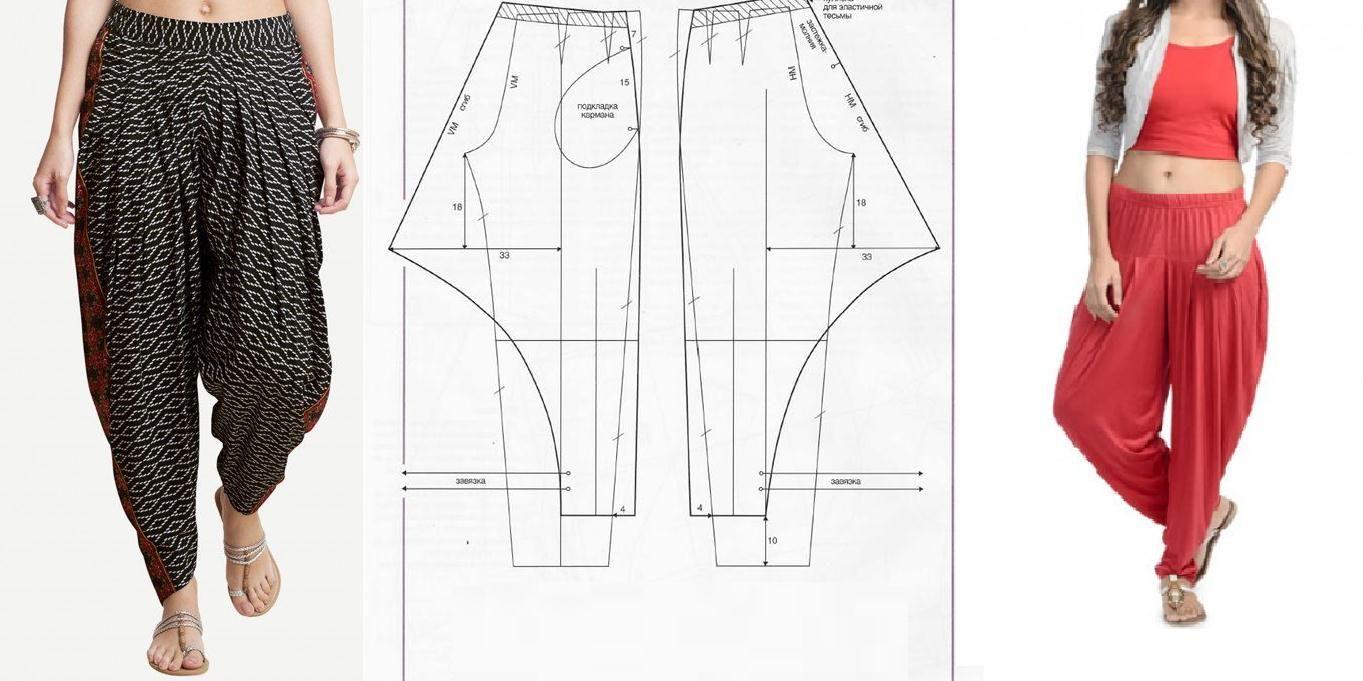 Pantalon bombacho con patrones | ManualidadesYa Paso a Paso faciles ...