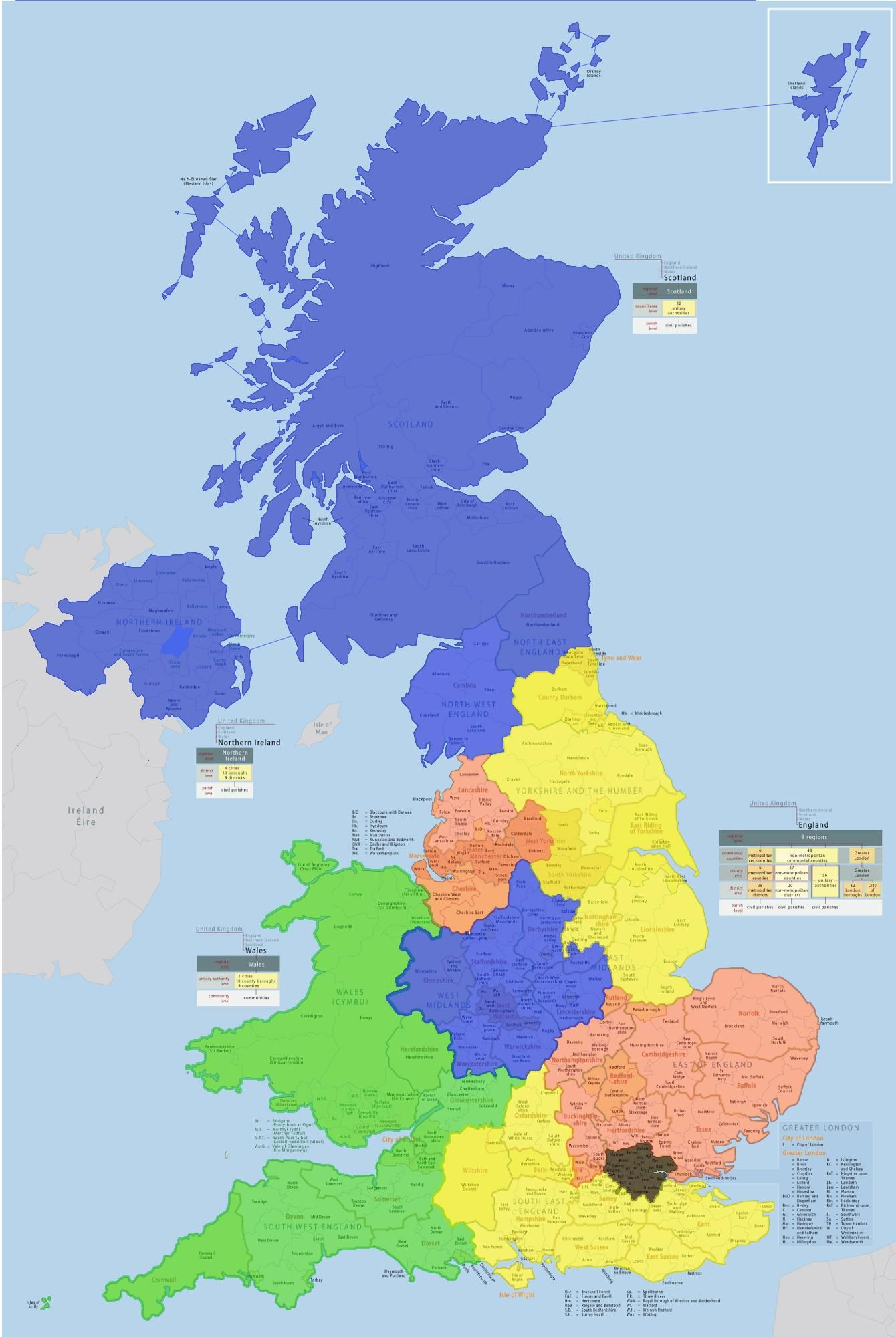 Where Is Great Britain On A World Map.Uk Split Up Into Areas Where Population Is Equal To That Of London