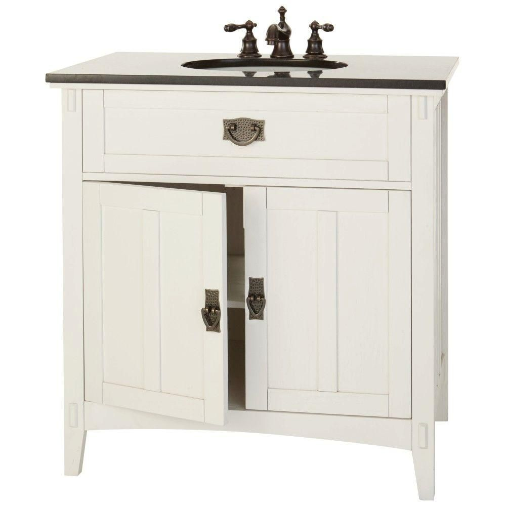 Home Decorators Collection Artisan 33 in. W Bath Vanity in White ...