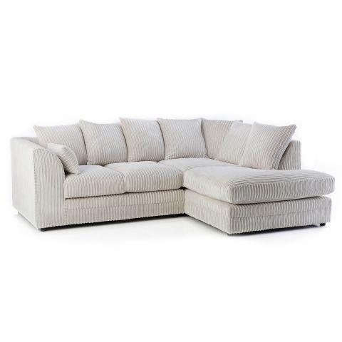 Chicago Jumbo Cord Corner Sofa Next Day Delivery