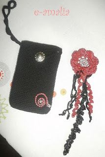 pouch and brooch