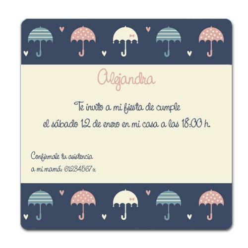 Invitaciones de Cumple Paraguas