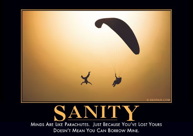 Sanity Demotivator   ♥ De-Motivators ♥   Pinterest