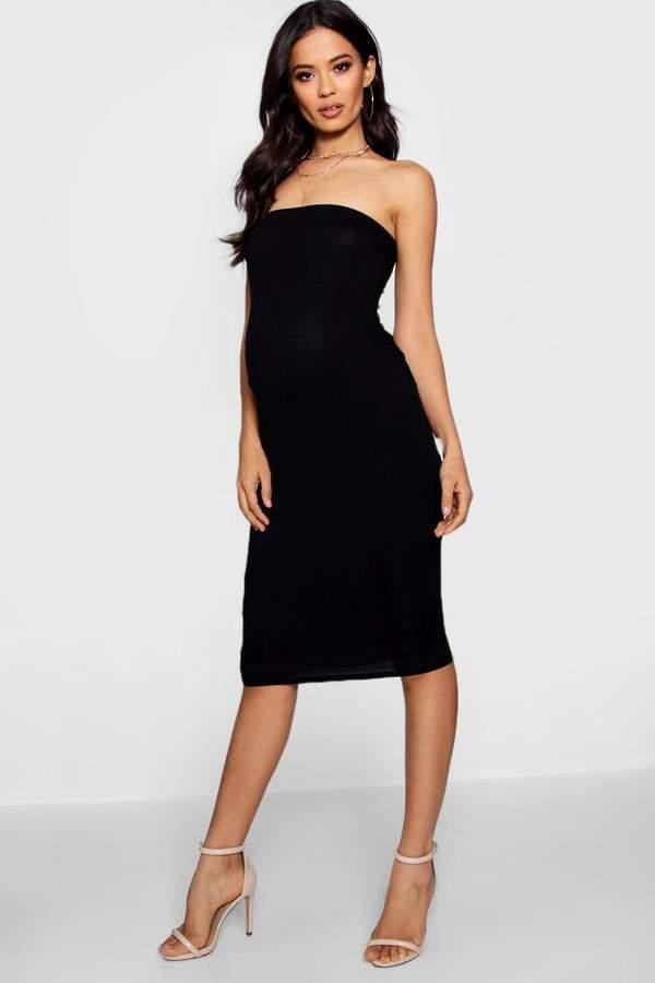 69aba9cea5dac Maternity Bandeau Bodycon Midi Dress | Christmas Stuff | Dresses ...