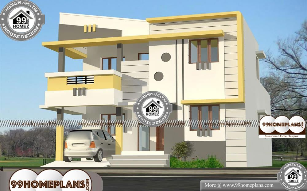 30 40 House Plans With Car Parking 2 Story 1340 Sqft Home 30 40 House Plans With Car Parking Double Storied C New Model House House Plans House Floor Plans