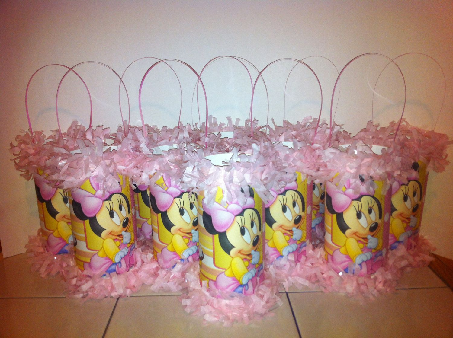 Baby Minnie Mouse 1st Birthday Mini Pinata By KrystalsPinatas 200