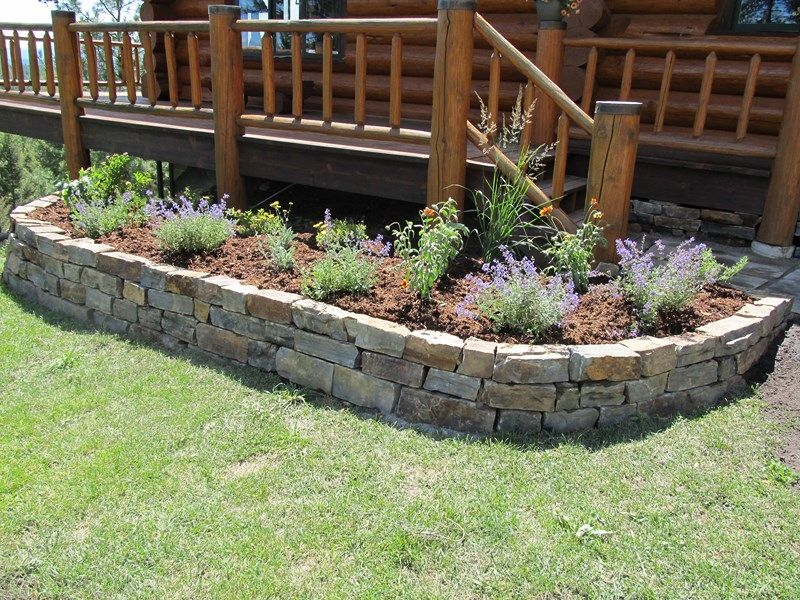 Stone Flower Beds walls patios steps stepping stones