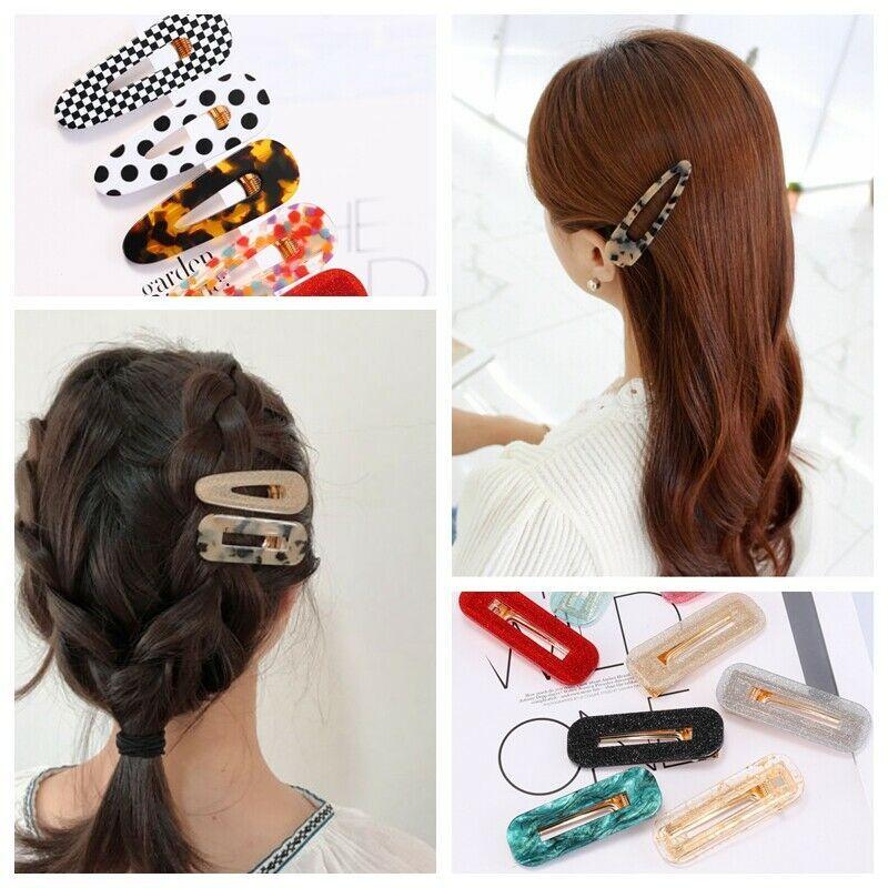 Women/'s Fashion Hair Slide Clips Snap Barrette Hairpin Pins Hair Accessories