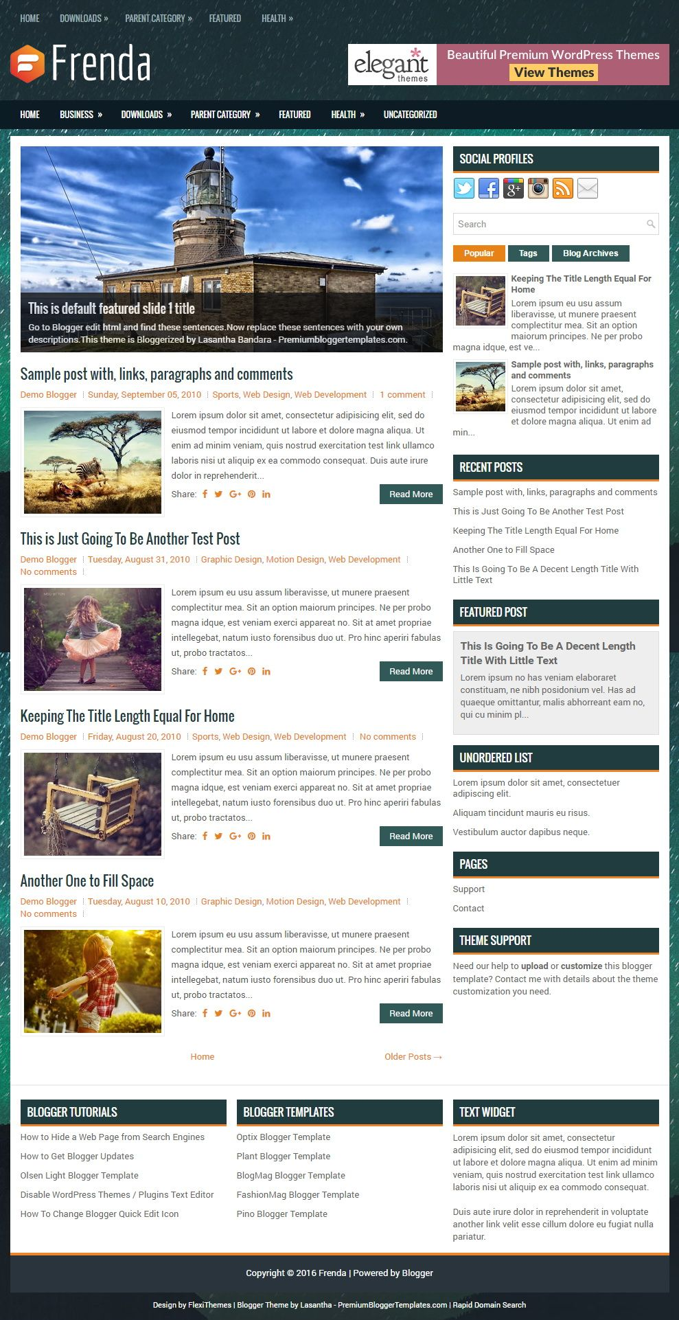 Frenda Blogger Template: Frenda is an attractive, fully responsive ...