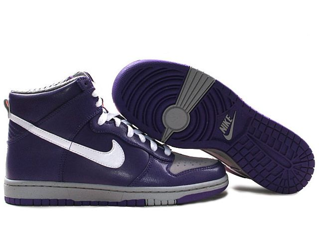 best website 43d6a ef293 Chaussures Nike Dunk High Violet Blanc Gris nike11886 - €62.98