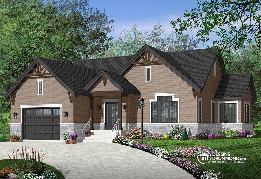 Détail du plan de Maison unifamiliale W3260-V3 plan Pinterest