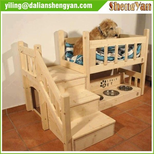 Large Indoor Dog Kennel Wooden Dog House With Stairs Photo