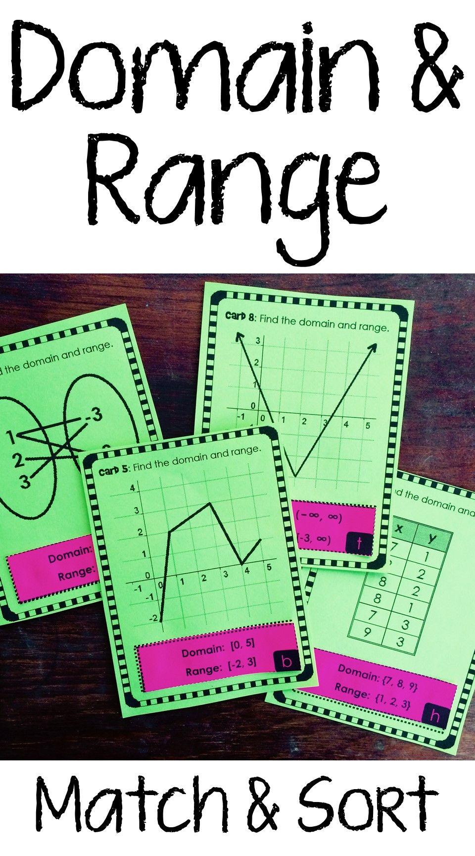 Domain And Range Matching And Sorting Activity Math Interactive Notebook Algebra Activities Teaching Algebra [ 1728 x 960 Pixel ]