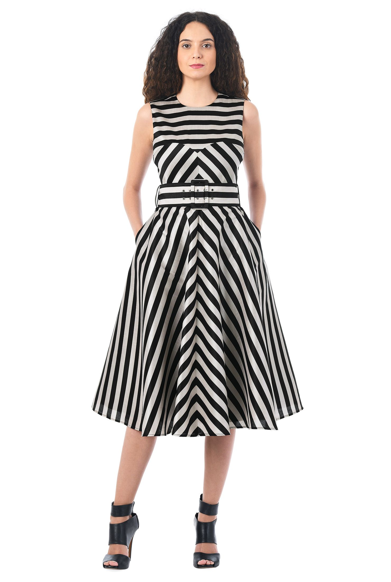 Image result for dupion black and white stripe gown