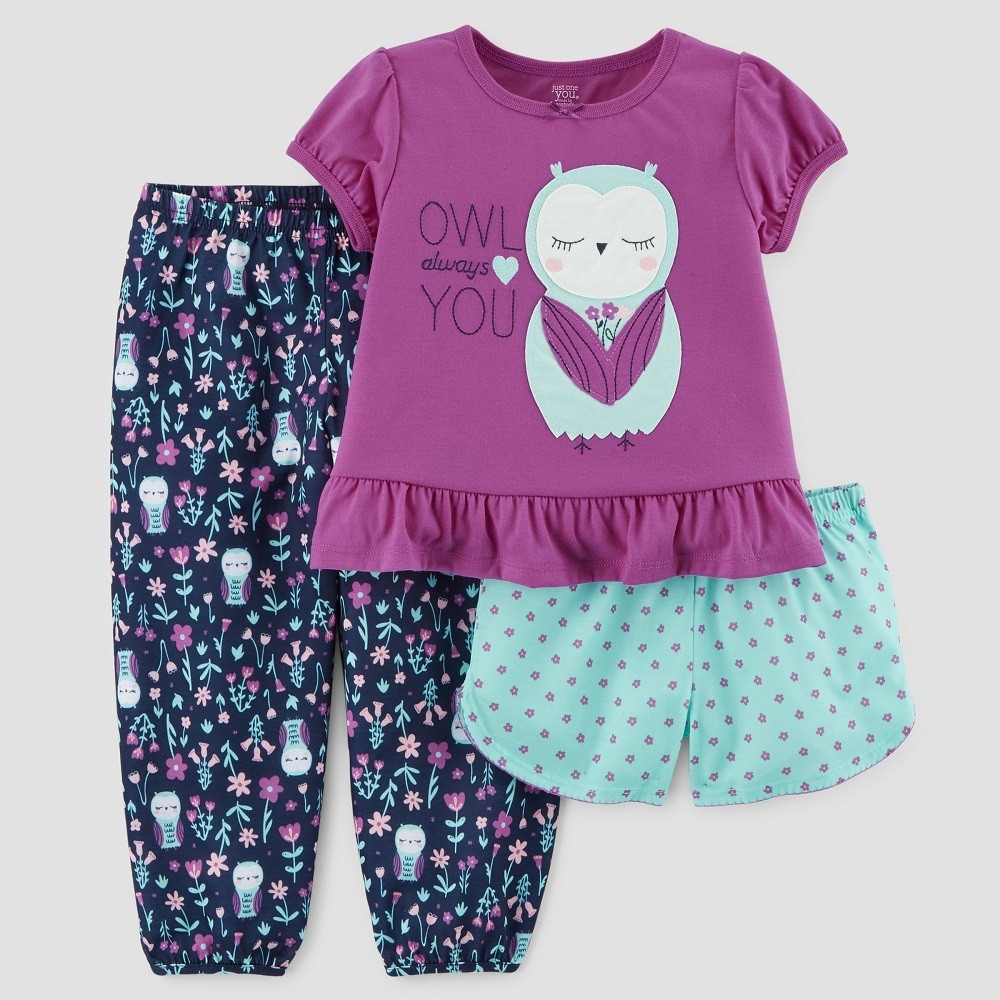 28b83a9c1 For some extra-sweet bedtime style she can wear the Short-Sleeve Owl ...
