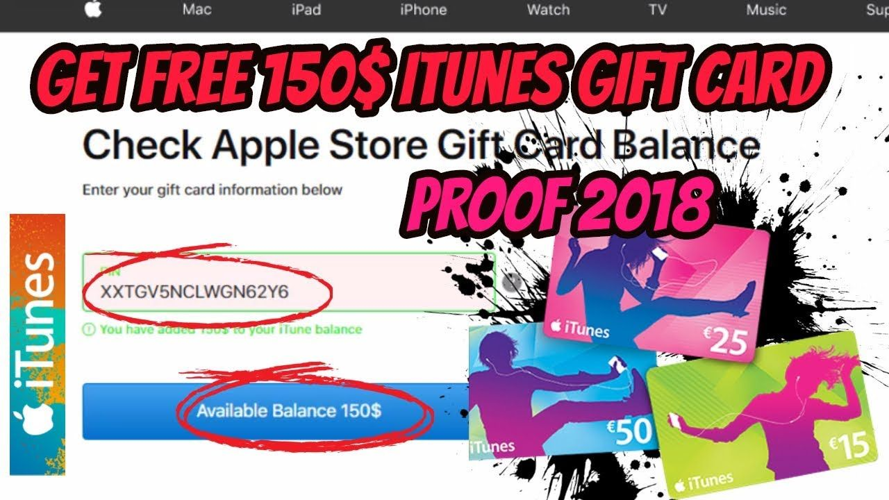 Free itunes 250 gift card codes 2018 how to get code
