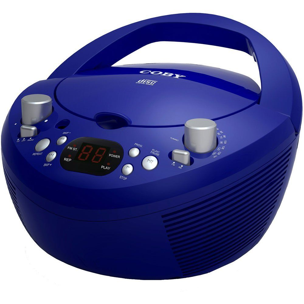 Coby Under Cabinet Radio Amazoncom Coby Cxcd251blu Portable Cd Player With Am Fm Radio