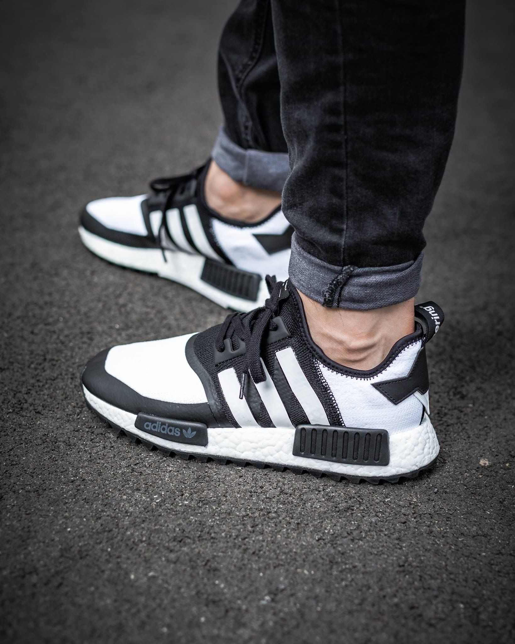 06 White Mountaineering x adidas NMD Trail Primeknit Core Black/Footwear  White eukicks