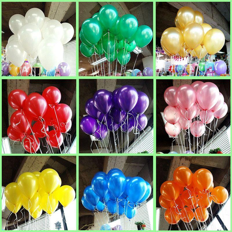 Hot 50 Stks Partij 10 Inch 1 2 G Stks Latex Ballon Helium