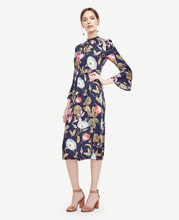 83a54d382c2cfb Morning Glory Keyhole Midi Dress   Ann Taylor   Shopping List ...