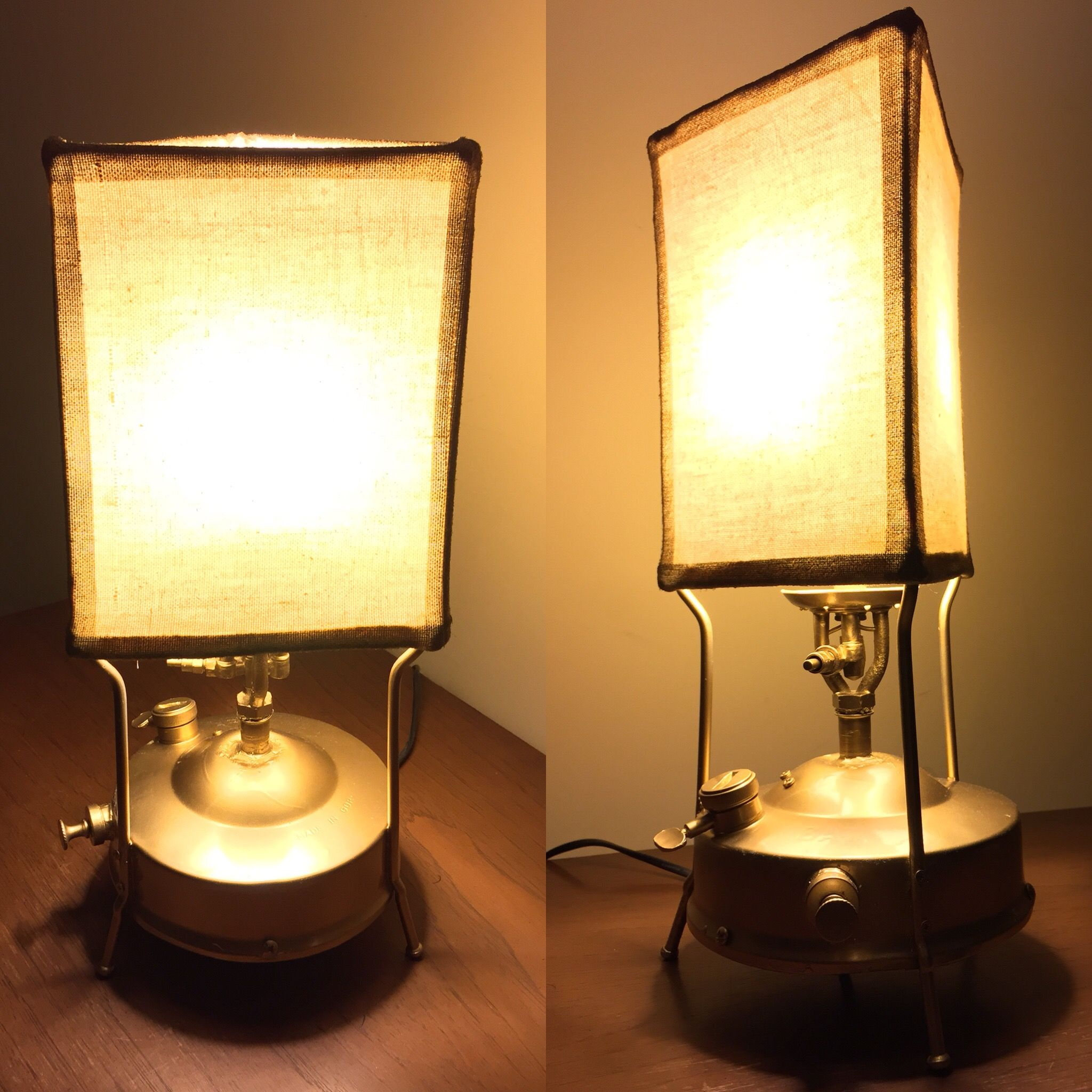 Table Lamp Made With An Old Gas Stove Lamp Table Lamp Gas Stove