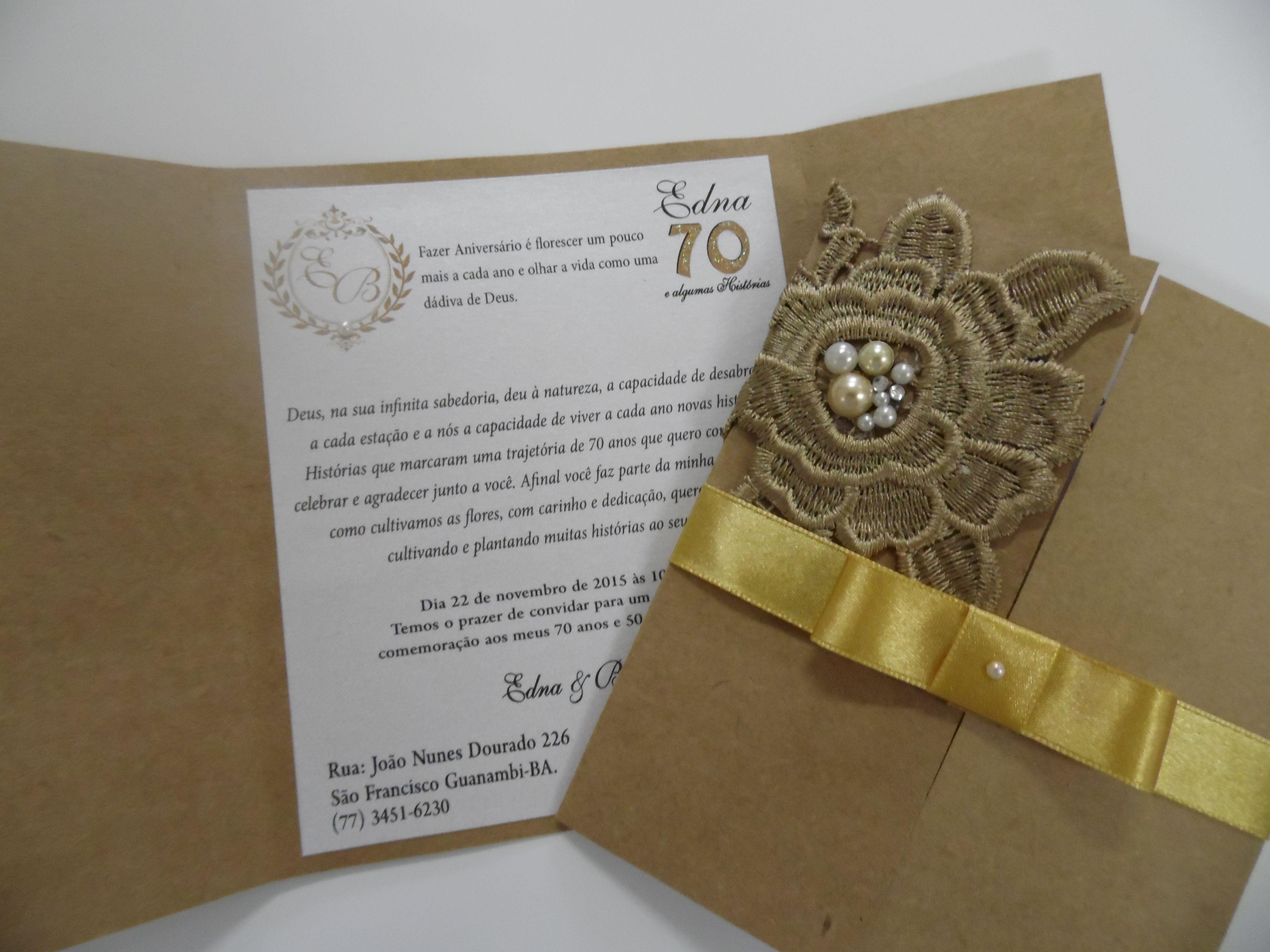 Convite Bodas de Ouro | Bodas | Pinterest | Bodas de ouro ...