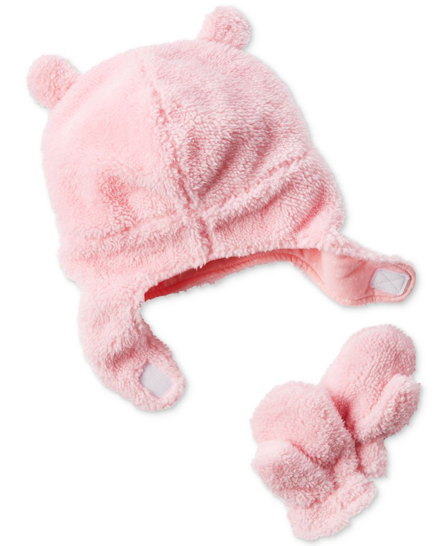 da742fef6 Carter's 2-Pc. Fleece Hat & Mittens Set, Baby Girls (0-24 months ...