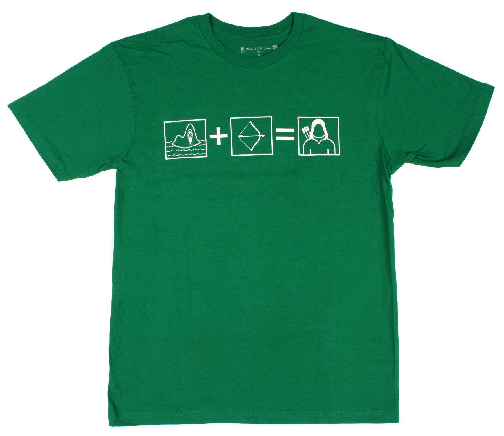 DC Comics Green Arrow Equation Men's T-shirt