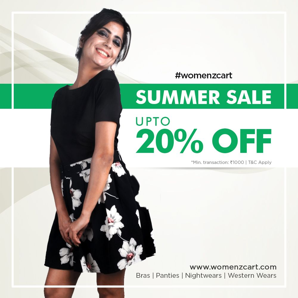b4676a7989e Summer Sale - Womenzcart SALE Coupon WCFJHNKLC9 for limited time offer. Get  upto 20% off on every purchase of min. transaction ₹1000 - Only for limited  ...