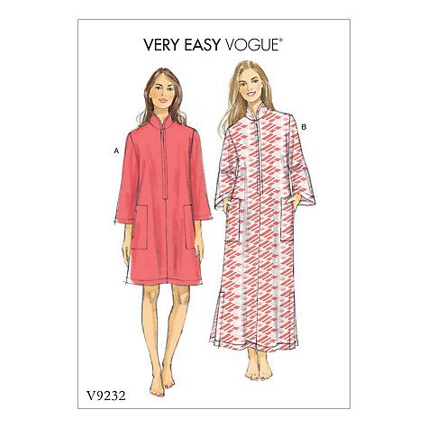 Vogue Womens Caftan Sewing Pattern 9232 Clothing Pinterest