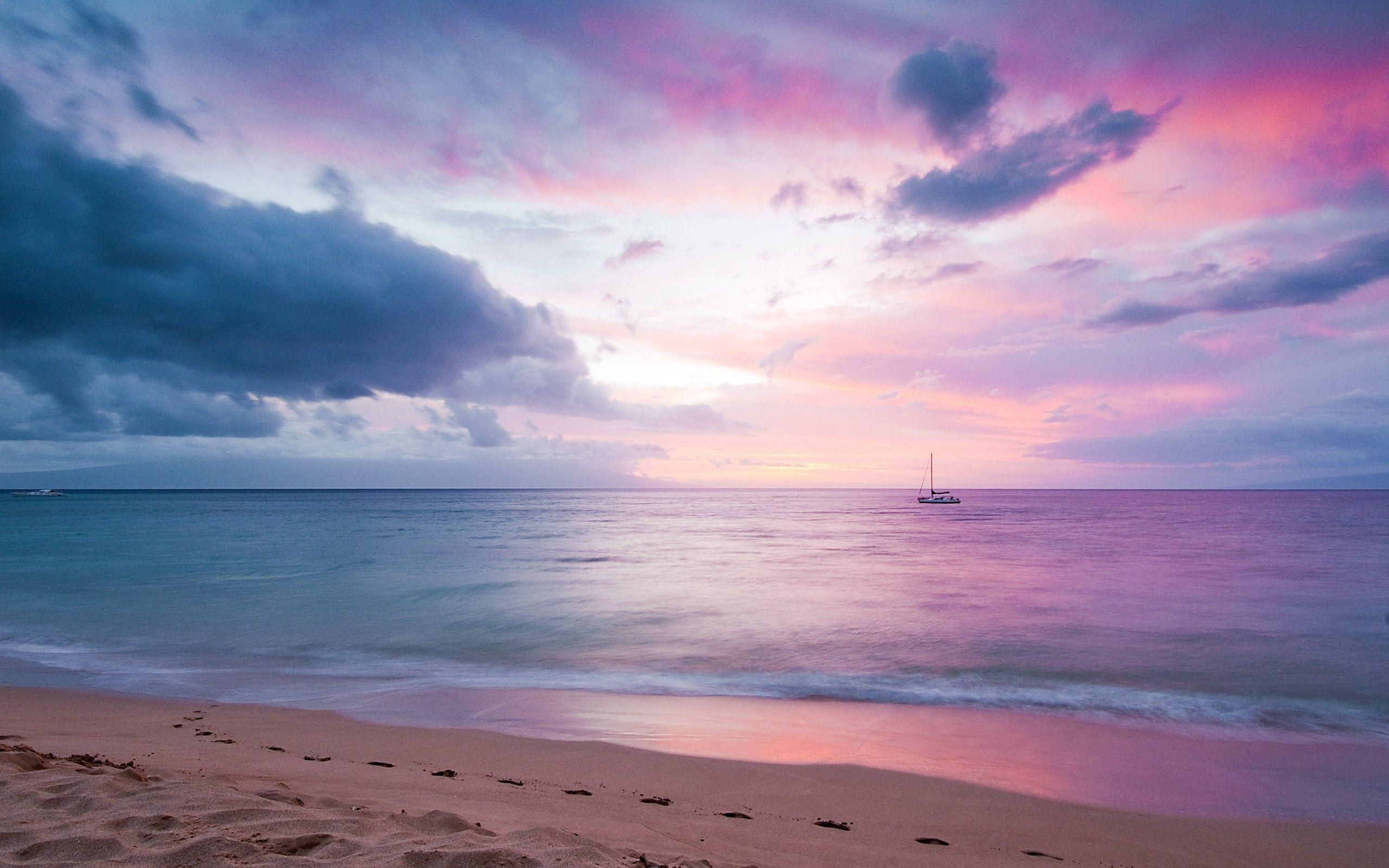 Blissful Purple Sunset Hd Wallpaper Get It Now Beach Wallpaper Beach Background Sunset Wallpaper