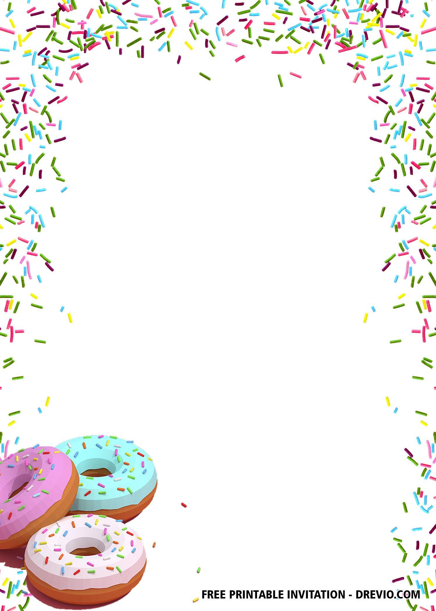 Free Donut Themed Birthday Invitation Templates Free Printable Invitations Templates Free Birthday Invitation Templates Printable Birthday Invitations