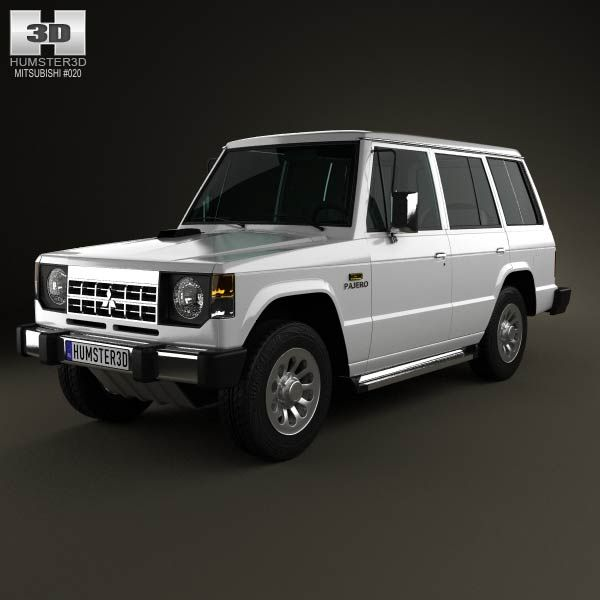 Mitsubishi Pajero Montero Wagon 1983 3d Car Model From Humster3d